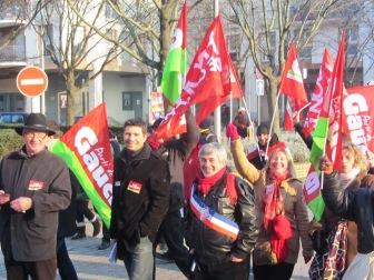 Manif luttes 94, janvier 2013