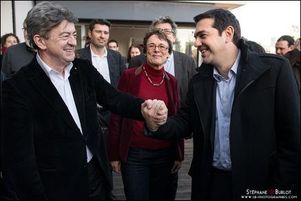 Melenchon Tsipras 2014